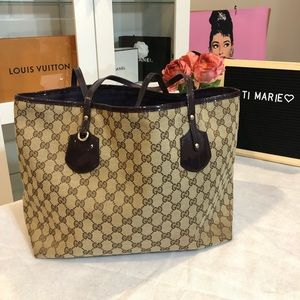 Gucci neverfull style tote